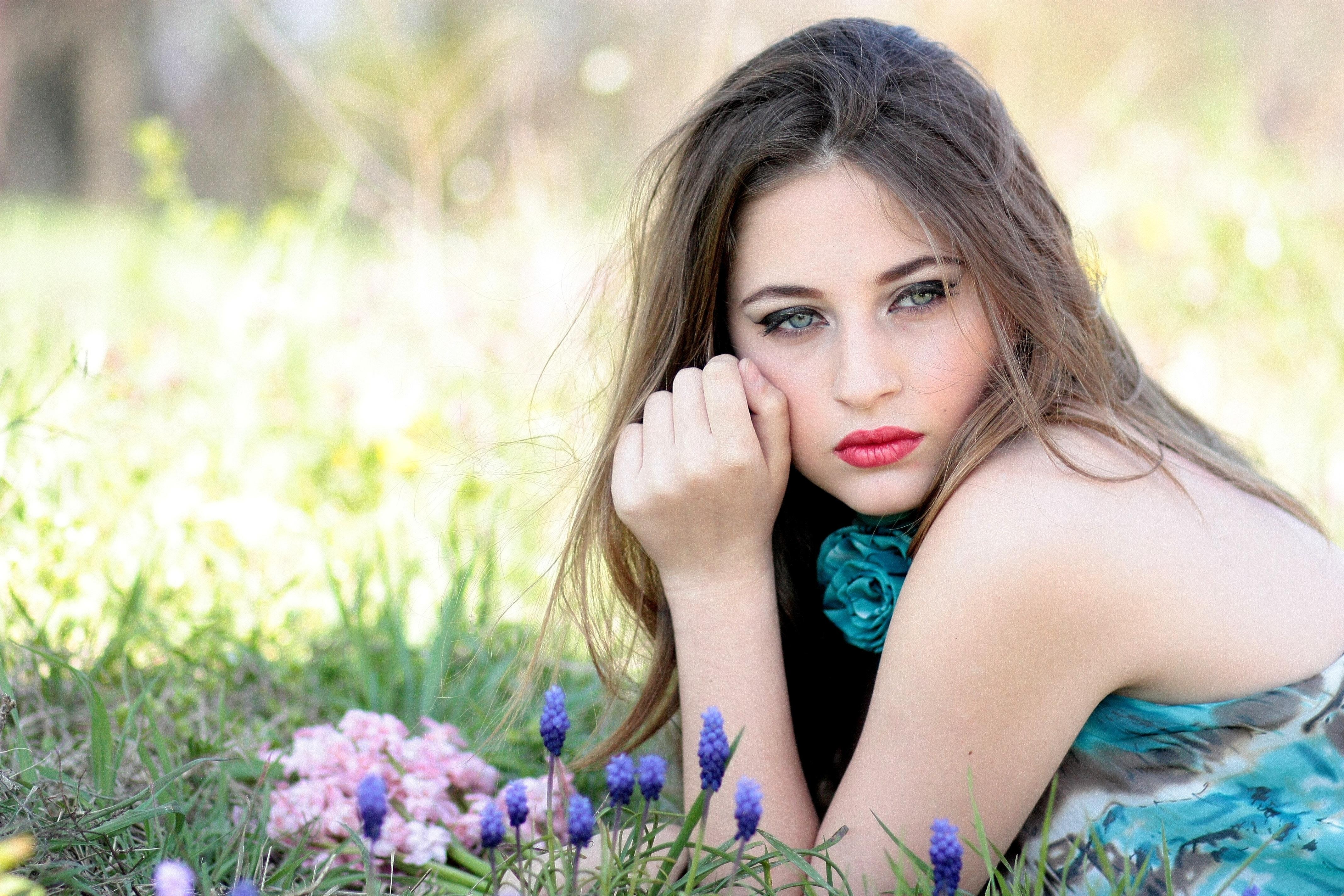 Portrait Of A Beautiful Woman Free Stock Photo