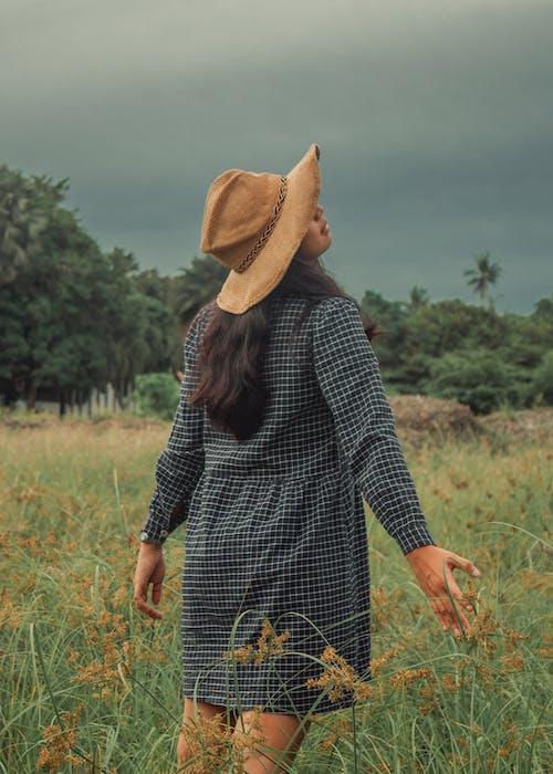 Free stock photo of asian female, asian girl, dress, field