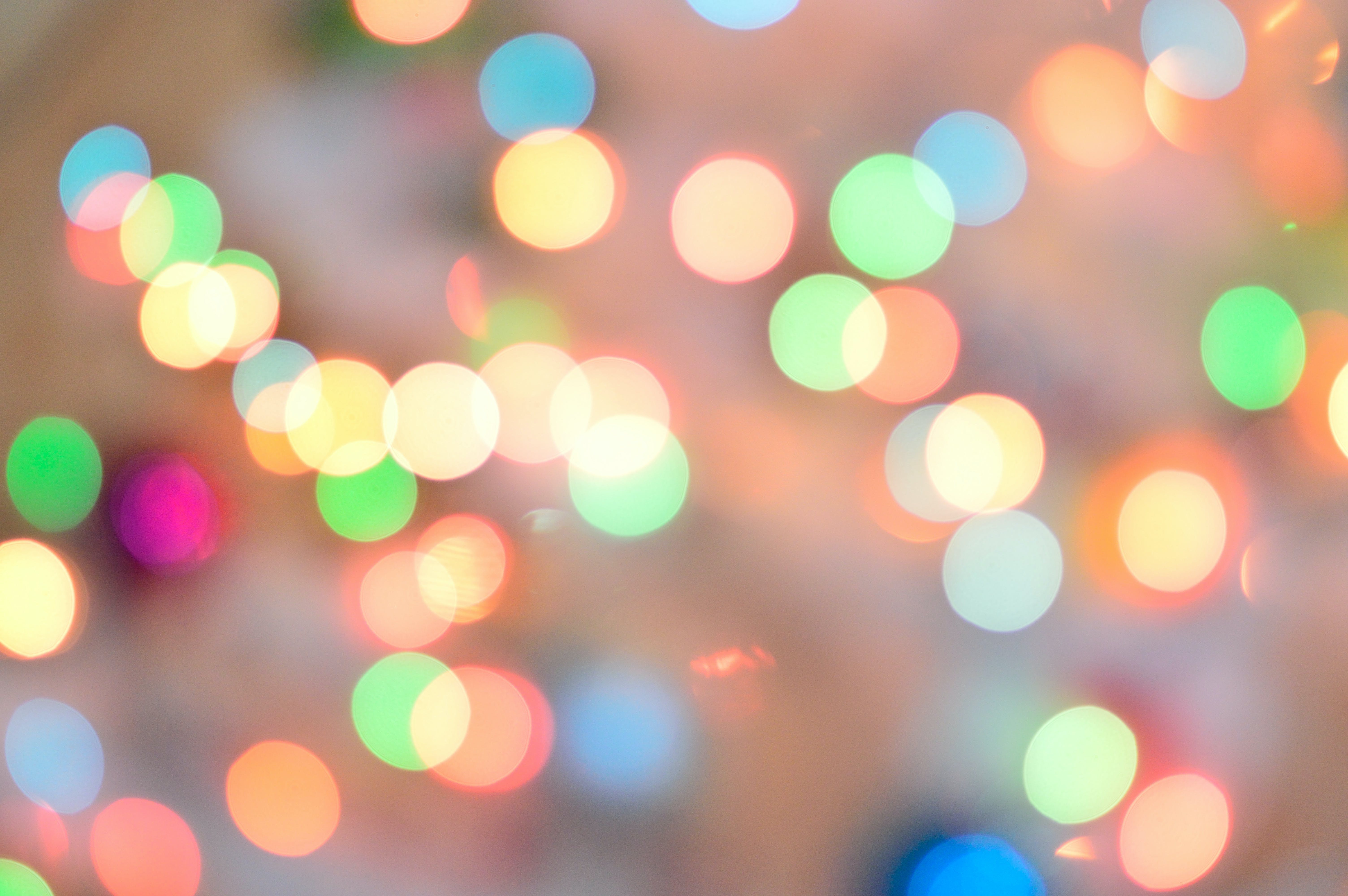 Defocused Image of Illuminated Christmas Lights
