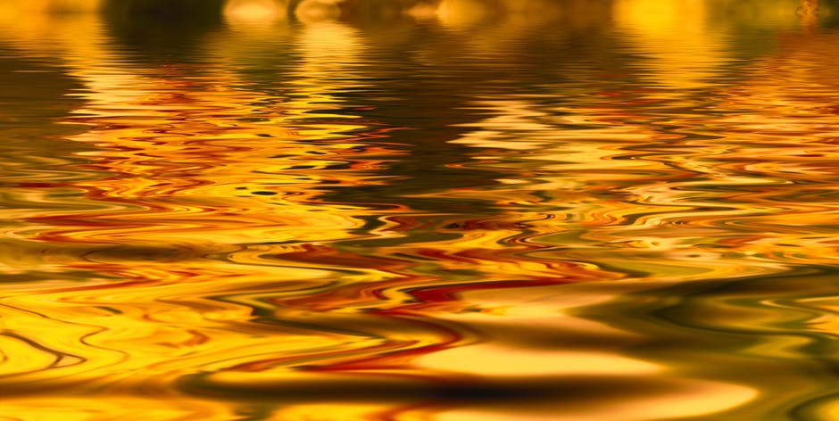 Close up of rippled water