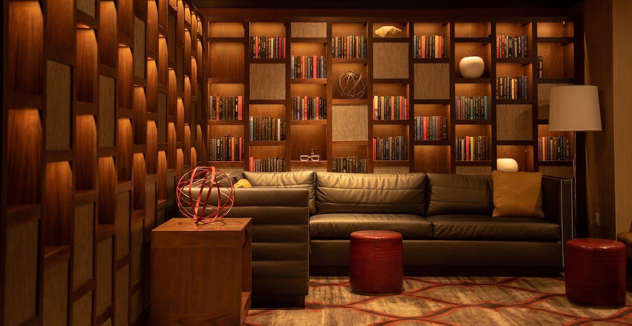 Kostnadsfri bild av apelsin, arkitektonisk, bibliotek