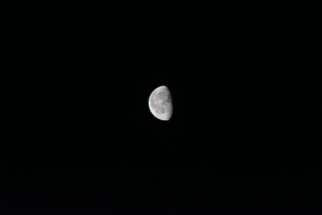달, 달빛, 반달