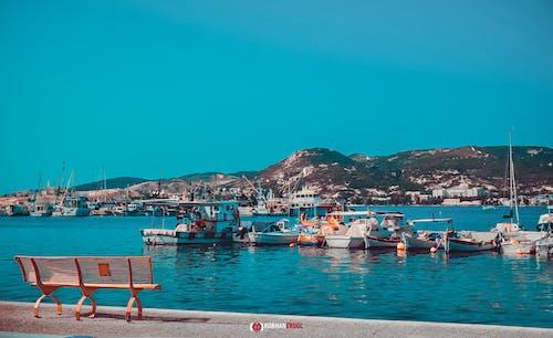 Foto d'estoc gratuïta de barca, blau, de colors, foto abstracta