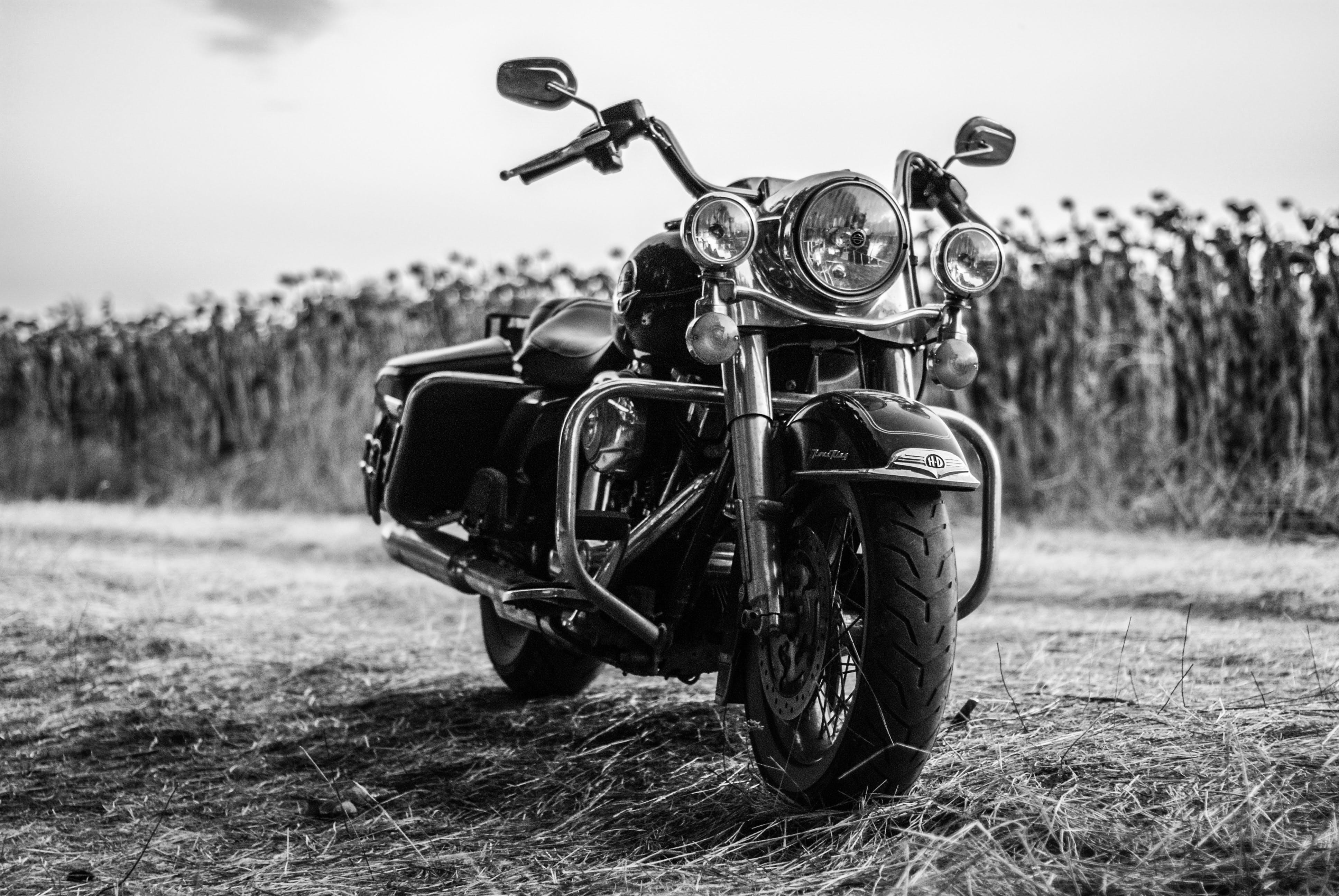 Motorcycle Against Sky