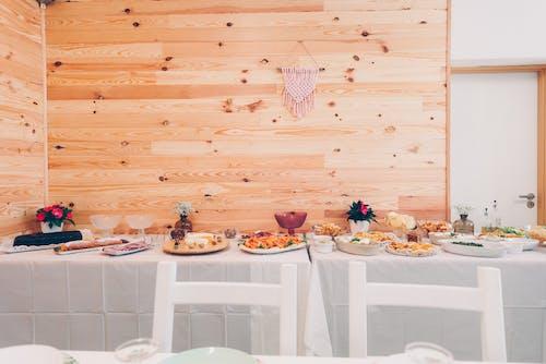 나무 벽, 음식, 저녁 식사, 점심 식사의 무료 스톡 사진