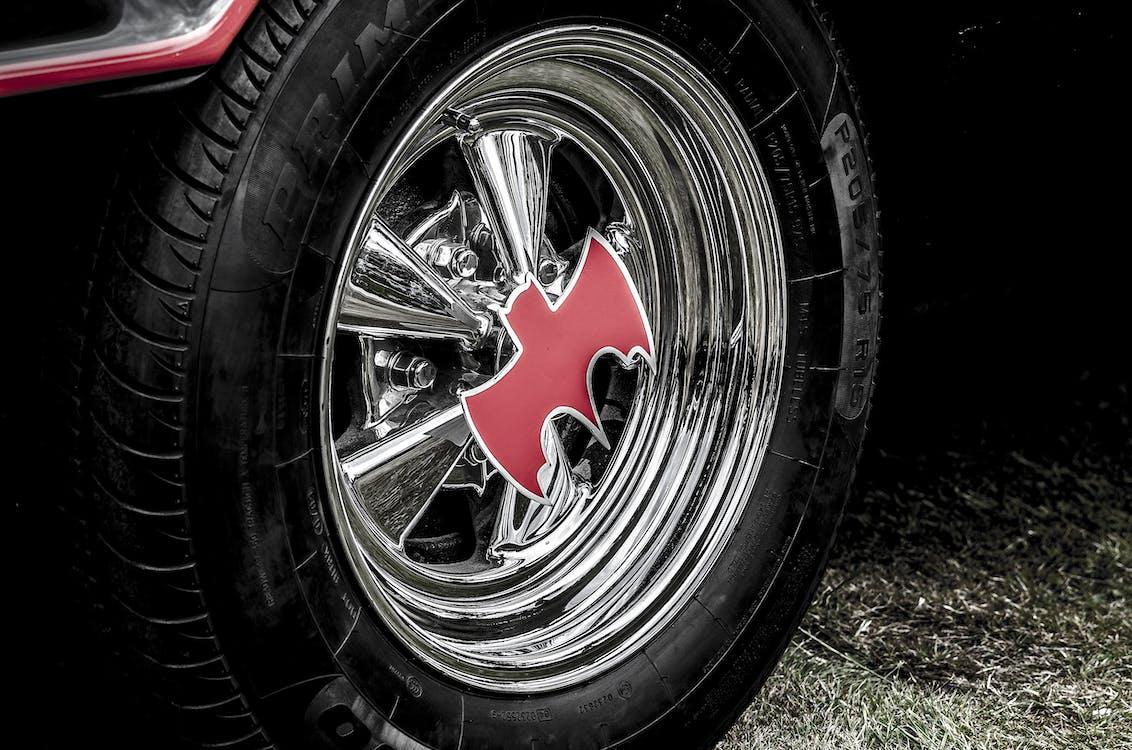 Close-up of Tire Rim
