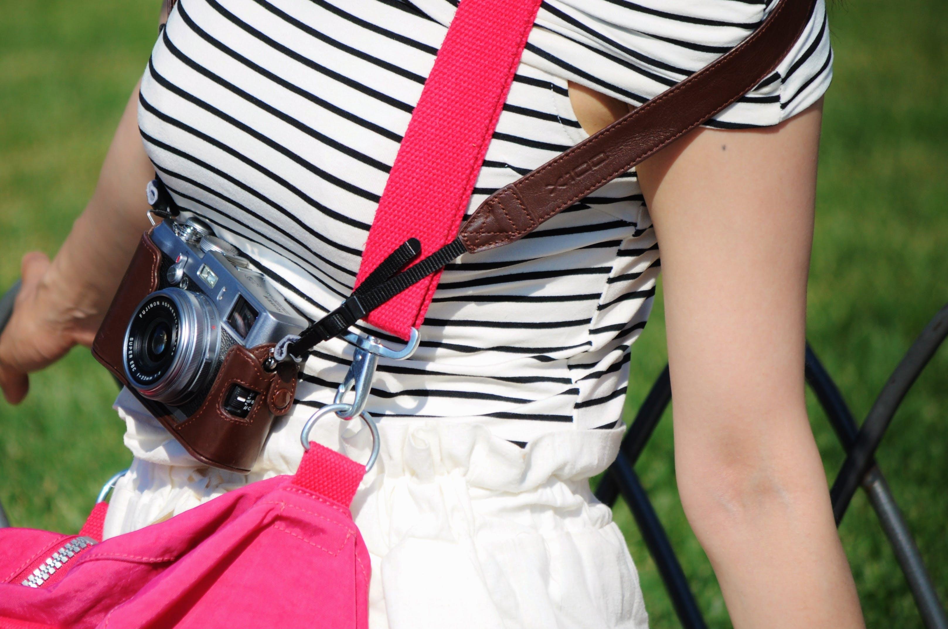 Camera on Woman Shoulder