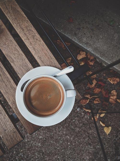 一杯咖啡, 俯視圖, 卡布奇諾, 可口的 的 免费素材照片