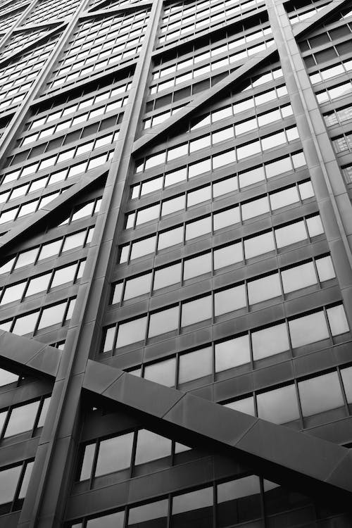 Free stock photo of black and white, downtown chicago