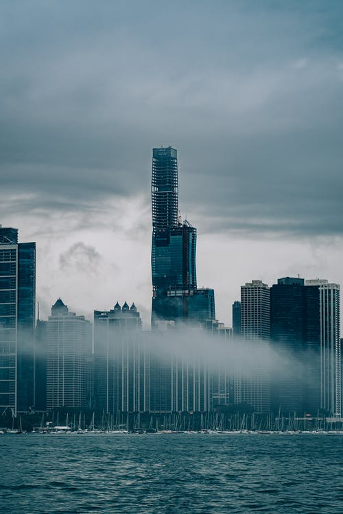 Skyline Photography of High-rise Buildings