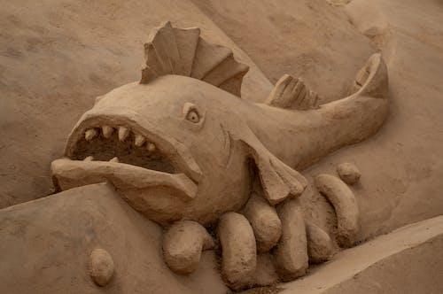 Kostnadsfri bild av arkitektonisk design, design, fisk, konst