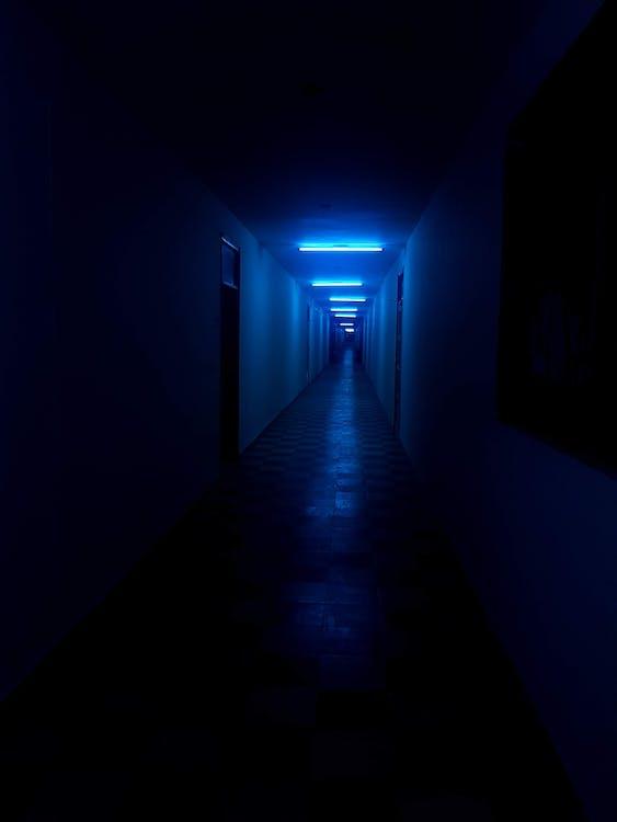 Photo of Empty Dimly Lit Hallway