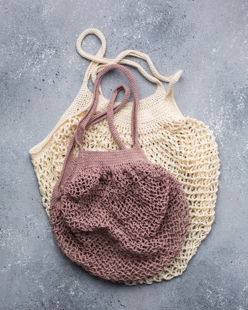 Two Knitted Bags