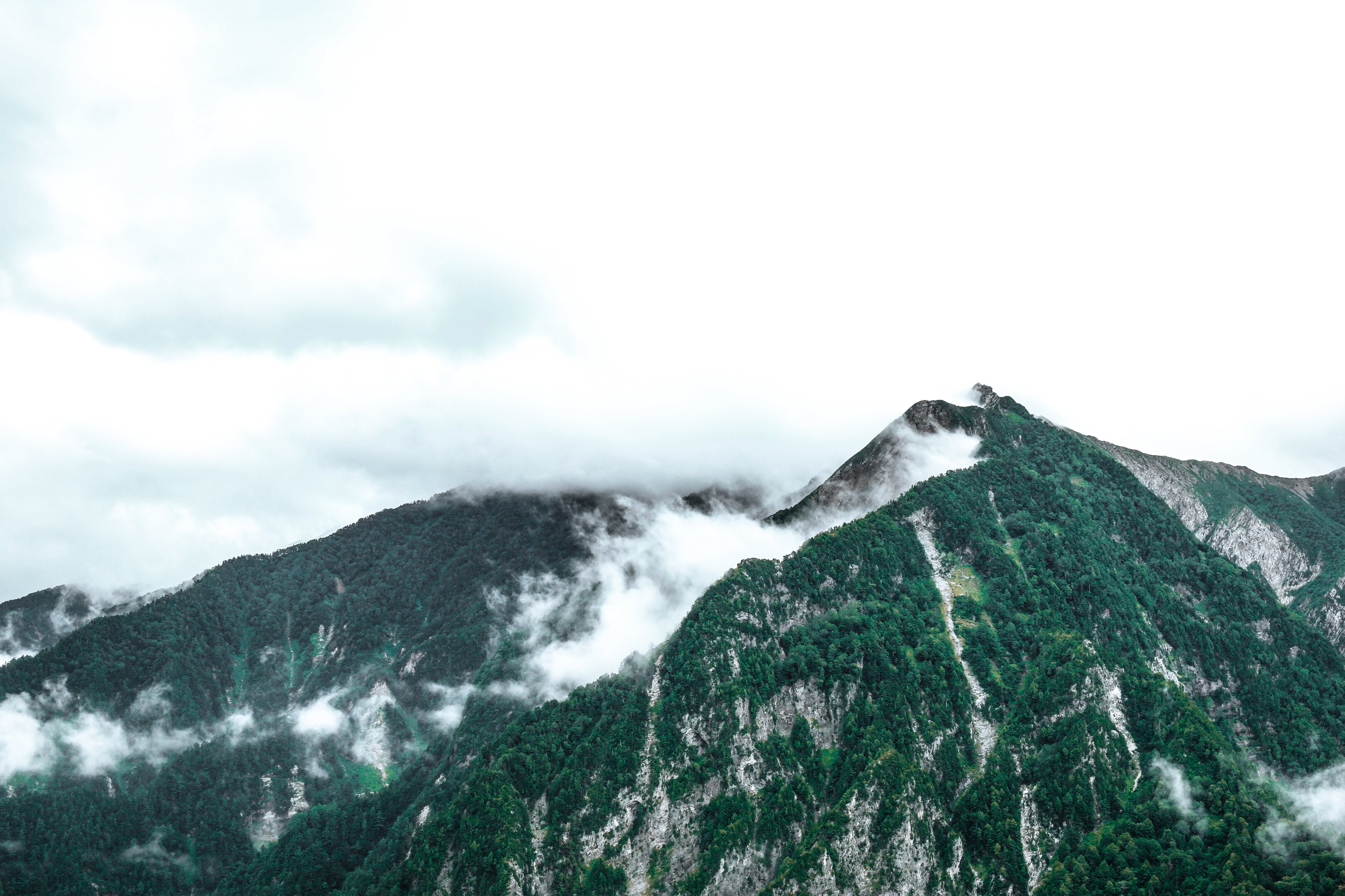 Green Mountains and Clouds