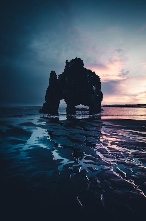 восход, закат, море