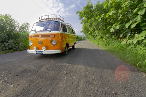 Free stock photo of camping, combi, dirt road, street
