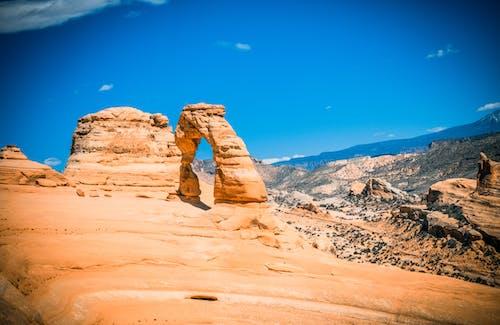 Бесплатное стоковое фото с moab, деликатная арка, заповедник, поход
