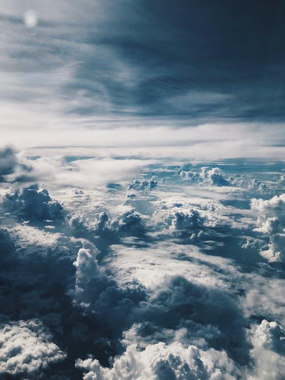 alb, atmosferă, cer