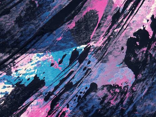 Foto stok gratis abstrak, acrylic, artistik, berwarna merah muda