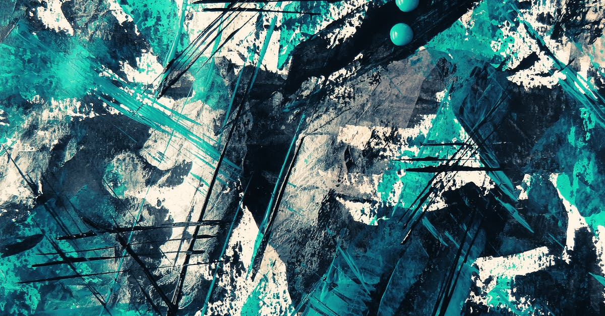 Teal And Black Abstract Painting · Free Stock Photo
