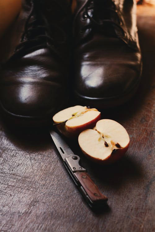 apple, boty, jablko