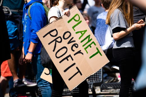 Free stock photo of activist, blue, climate activist, close-up