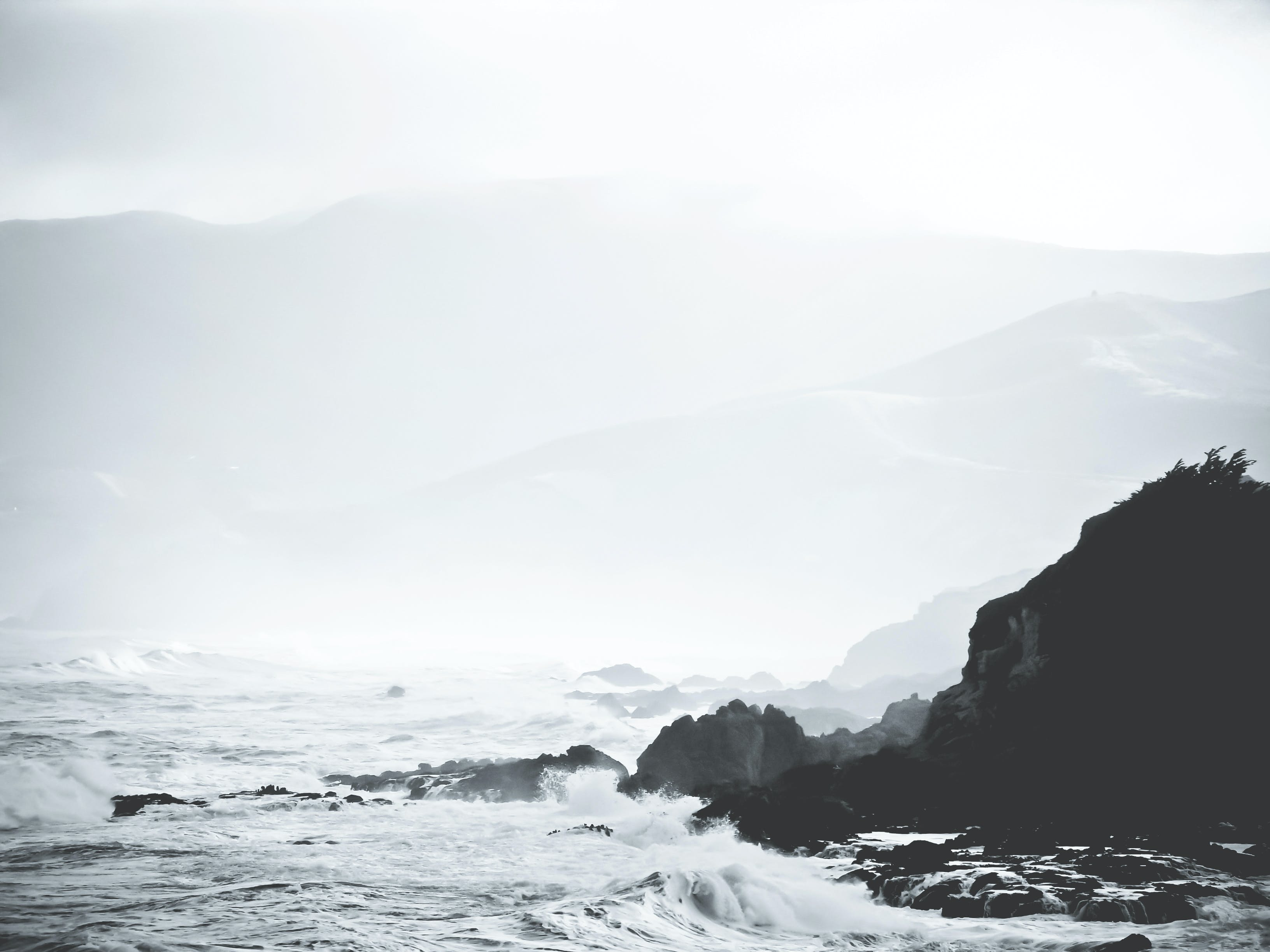 Free stock photo of sea, ocean, rocks, waves