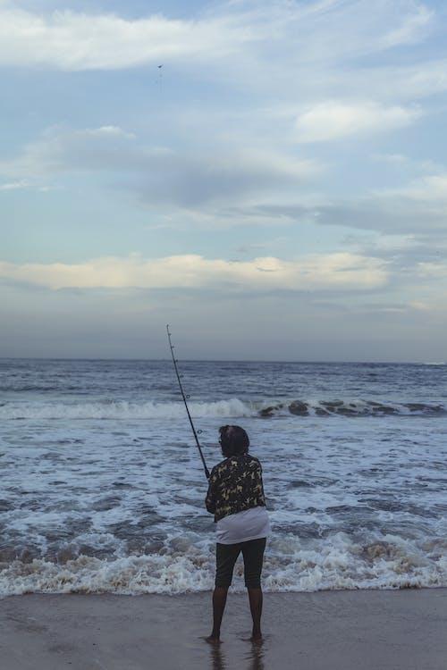 Balık tutmak, balıkçılık, deniz, deniz kıyısı içeren Ücretsiz stok fotoğraf
