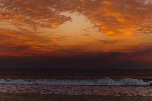 シースケープ, ビーチ, 夕暮れ, 夜明けの無料の写真素材
