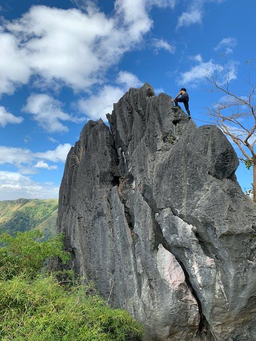 アドレナリン, クライミング, スポーツ, ハイキングの無料の写真素材