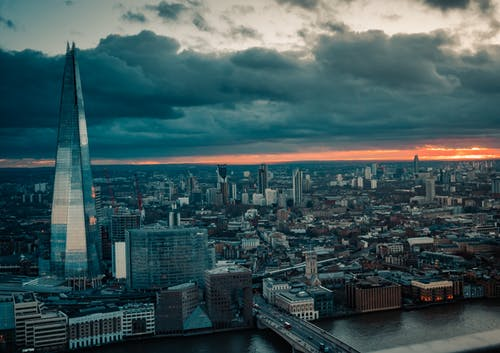 Photo of London Skyline During Golden Hour