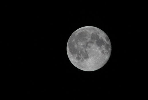 Close-up of Moon Against Black Background