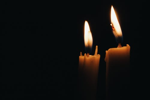 Two Lit Candles