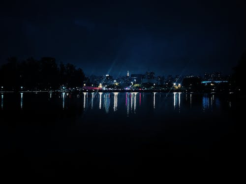 Free stock photo of city, lake, mobile photography, nigth
