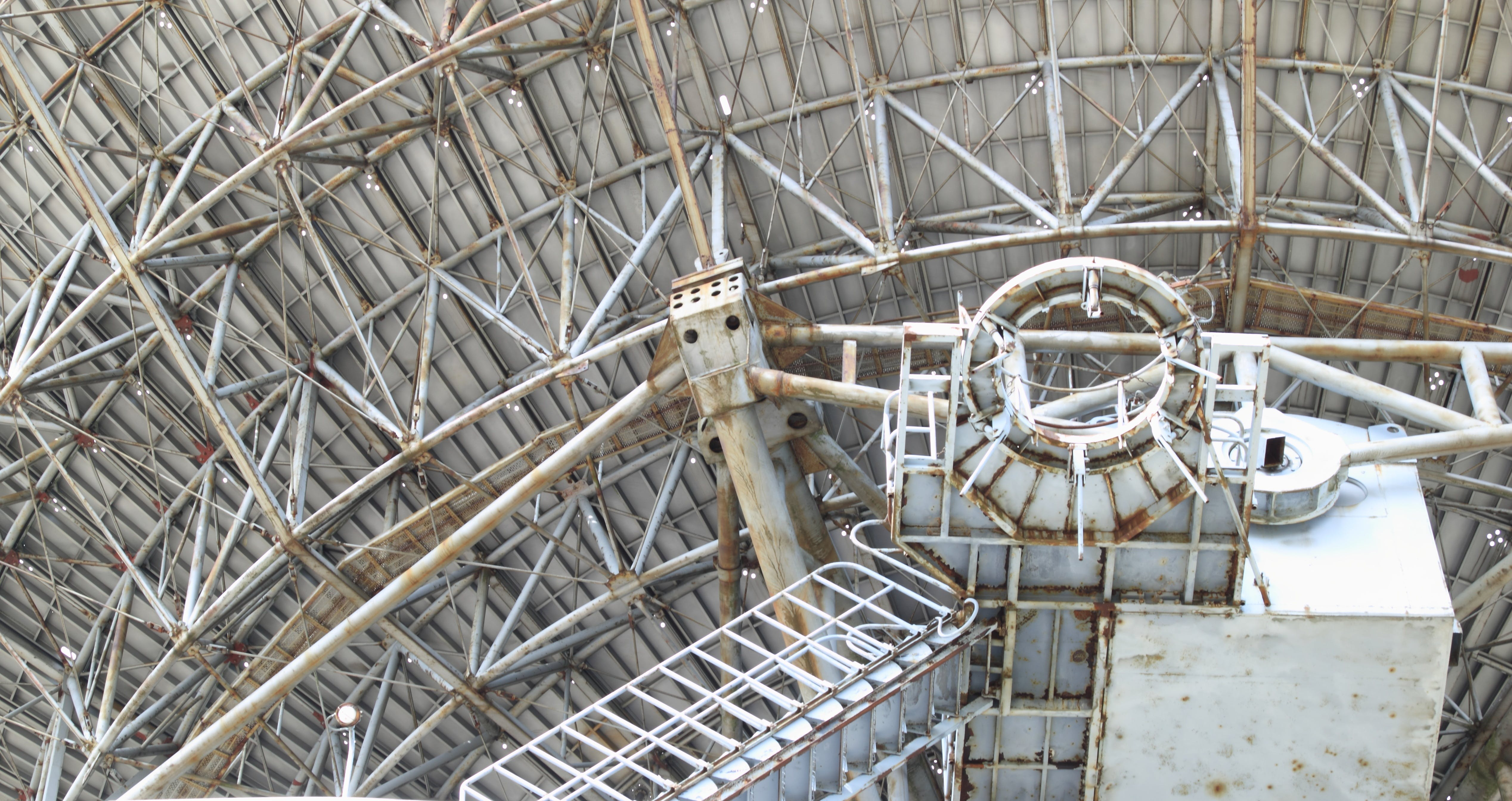 Close-up View of Metallic Structure