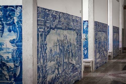 Foto stok gratis biru, dasar, dinding, putih