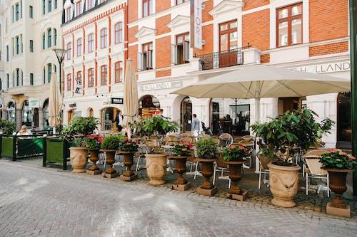 Fotos de stock gratuitas de al aire libre, arquitectura, balcón, cafetería