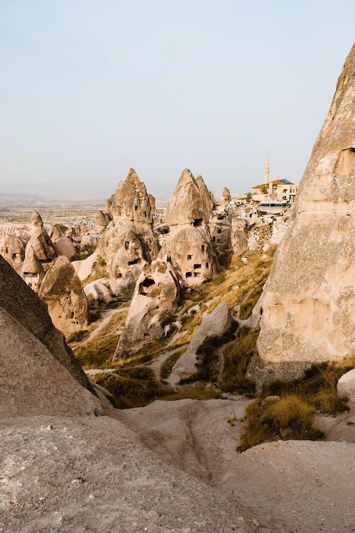 คลังภาพถ่ายฟรี ของ cappadocia, ถ้ำ, ท้องฟ้า