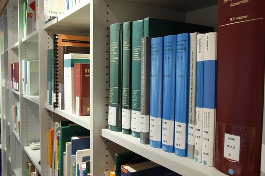 Books on Shelf in Library