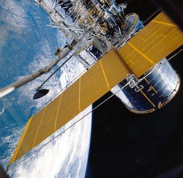 White Outer Space Satellite 183 Free Stock Photo