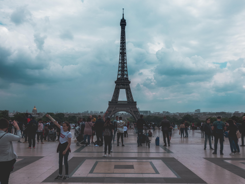 People Beside Eiffel Tower, Pairs
