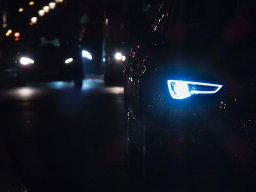 ダーク, パリの夜, ヘッドライト, 夜の無料の写真素材