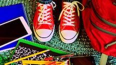 shoes, pencils, wear