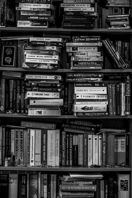 apprendre, bibliothèque, connaissances