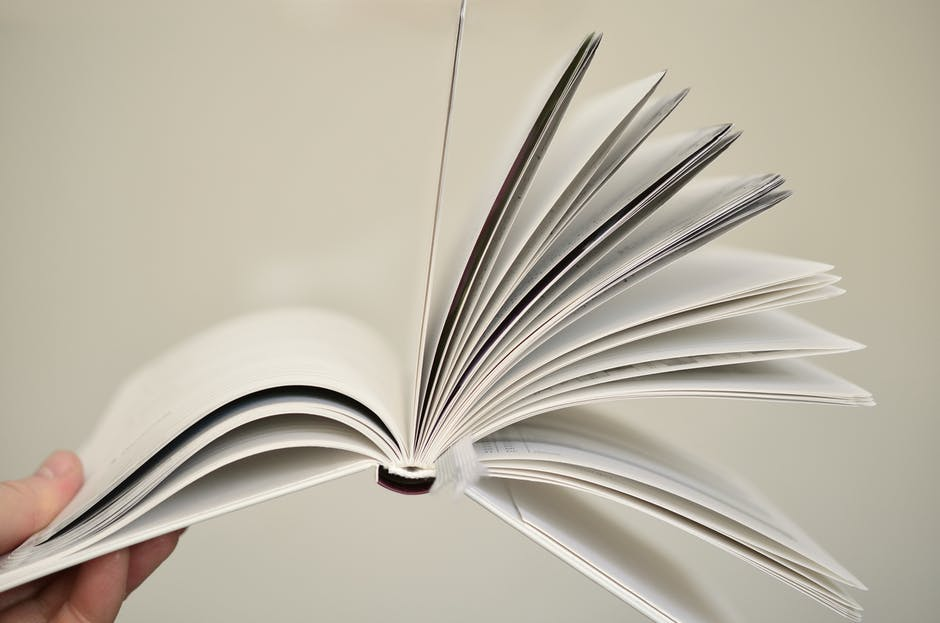 Close up of open book