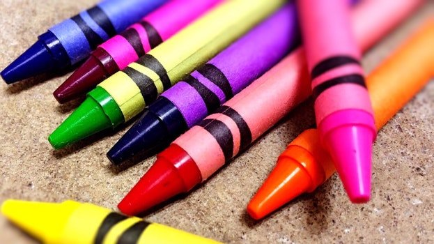 Close-up of Crayons