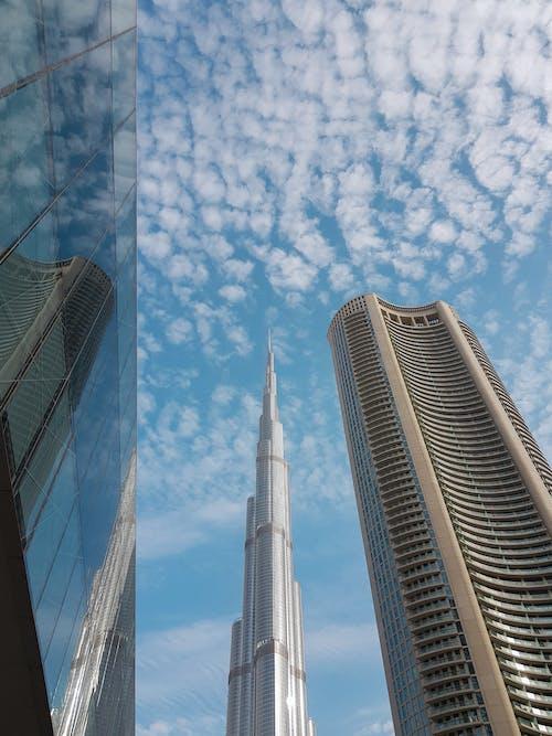 Free stock photo of burj khalifa, clouds, cloudy skies, dubai