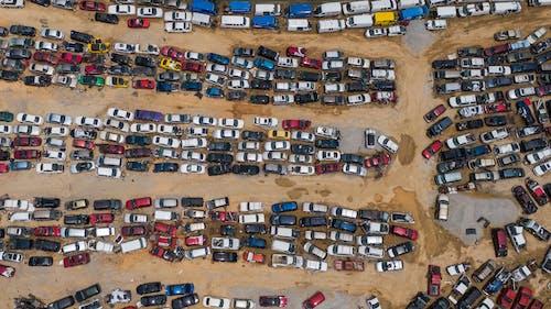 Kostenloses Stock Foto zu autos, junkyard, luftaufnahme, luftaufnahmen
