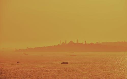 Ilmainen kuvapankkikuva tunnisteilla arkkitehtuuri, auringonlasku, islam, Istanbul