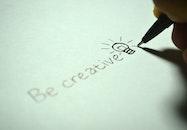 creative, hand, pen
